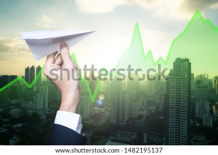 Investing in Real Estate Investment Trust or REIT. Visionary business man investing in stocks.
