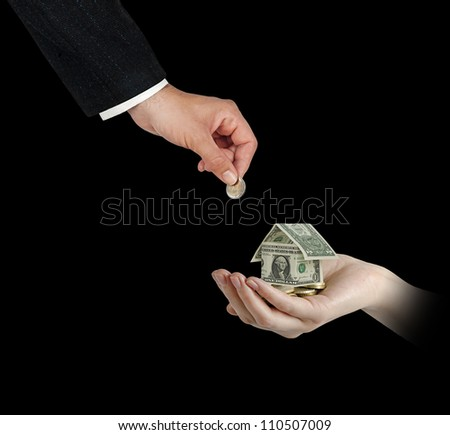 Investing to home - stock photo