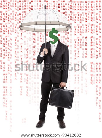 Investment Management Concept: Protecting Your Money - stock photo