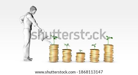 Investment Portfolio with Stocks Bonds and Commodities 3d Render ストックフォト ©