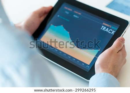 Investment, tablet, research. - Shutterstock ID 299266295