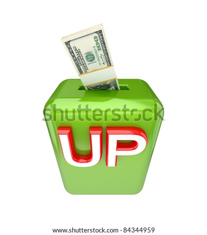 Investments concept. 3d rendered. Isolated on white background.