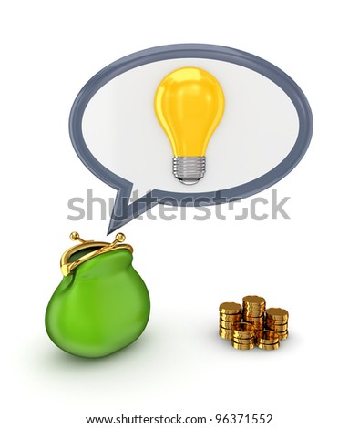 Investments concept.Isolated on white background.3d rendered.