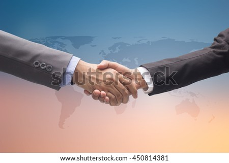 investor business man handshake together,executive team meeting for agreement ,we are hiring concept.