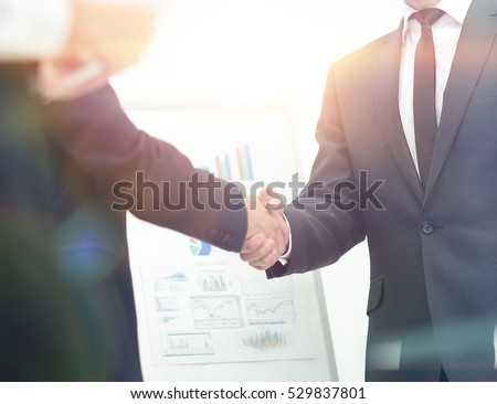 investor shakes hands with the speaker after the financial prese #529837801