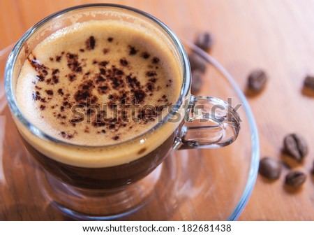 invigorating fresh coffee, a traditional drink