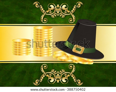 http://www.shutterstock.com/pic-388750402/stock-photo-invitation-card-with-golden-floral-and-shamrock-st-patricks-day-design.html