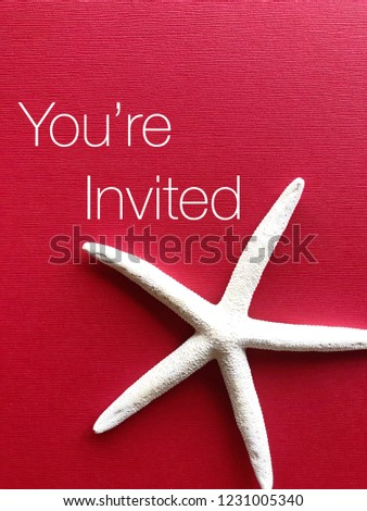 "Invitation / greeting card concept. ""You're Invited"" #1231005340"