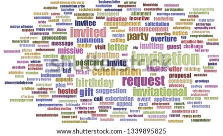 Invitation Tagcloud Aligned Isolated