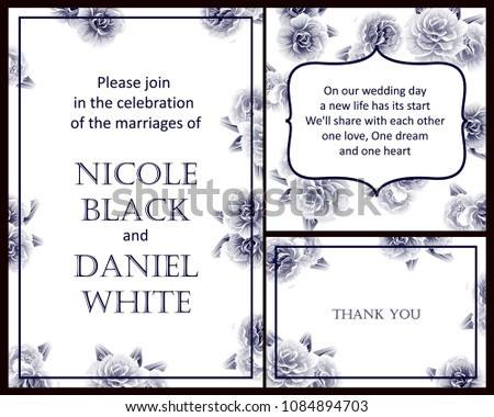 Invitation with floral background #1084894703