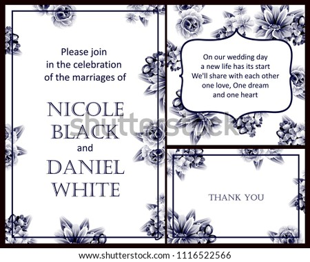 Invitation with floral background #1116522566
