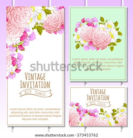 Invitation with floral background #373453762