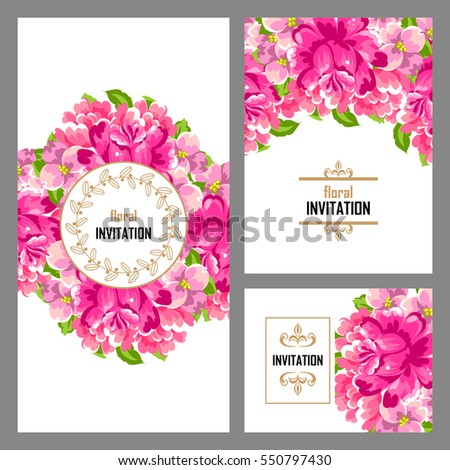 Invitation with floral background #550797430