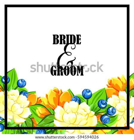 Invitation with floral background #594594026