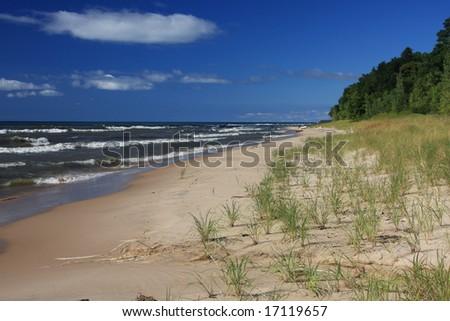 Inviting beach on Lake Michigan