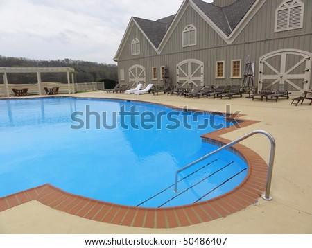 Inviting outdoor swimming pool in Georgia