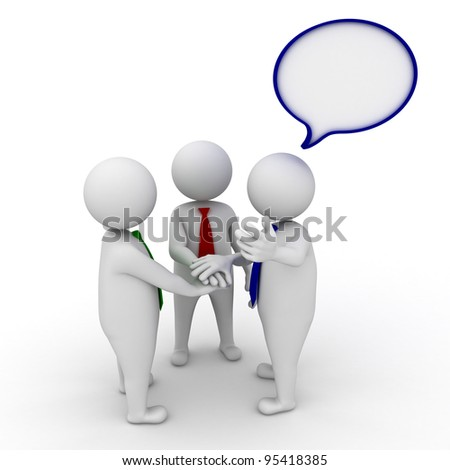 Inviting people to join the team, Business team joining hands concept on white background