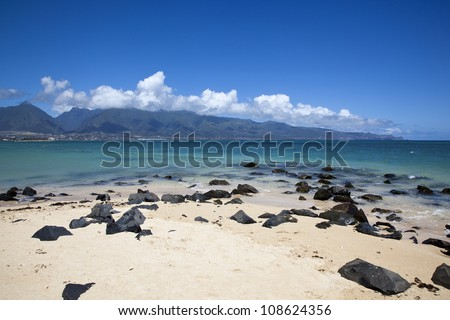 Inviting waters and beautiful beach on Maui, Hawaii
