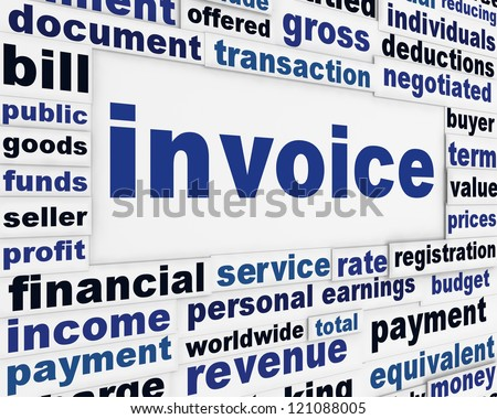 Invoice financial creative poster. Business transaction message background