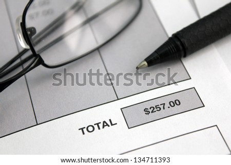 invoice with close up of total or balance due of $257