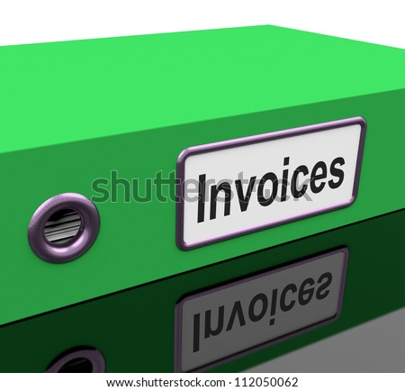 Invoices File Shows Accounting And Expenses