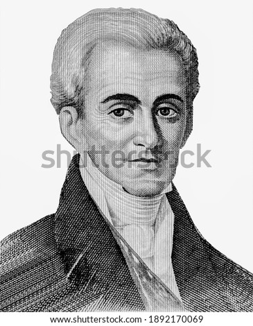 Ioannis Kapodistrias Portrait from Greece  Banknotes. Greece is Count Ioannis Antonios Kapodistrias who was the first Governor of Greece after the 1821 War of Independence.