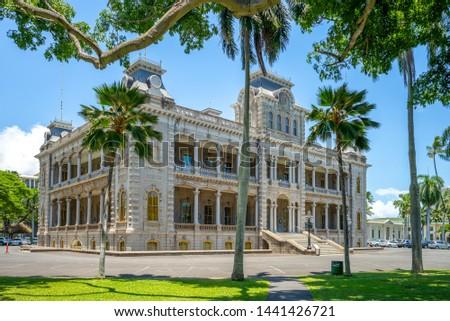 Iolani Palace in Honolulu, Hawaii, US #1441426721