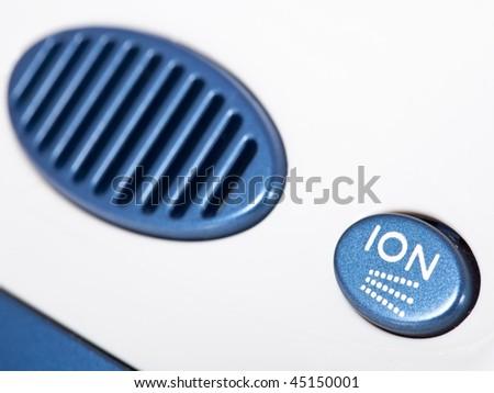 ionic air purifier filter close up macro - stock photo