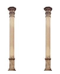 Ionic Column isolated. Clipping path.