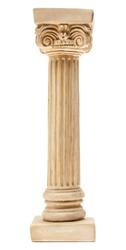 Ionic column on white background