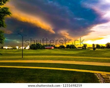 Iowa storm clouds Stock fotó ©