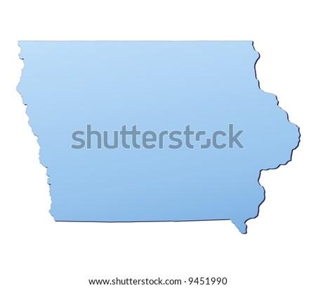 StockShutter Premium Stock Footage Iowa - Iowa map of usa