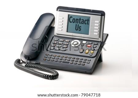 IP Phone telephone isolated on white background