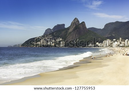 Ipanema Beach in the morning