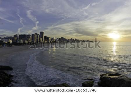 Ipanema Beach sunrise, Rio de Janeiro
