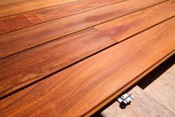 Ipe teak decking deck wood installation clips fasteners