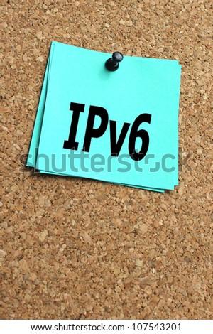 IPv6 - stock photo