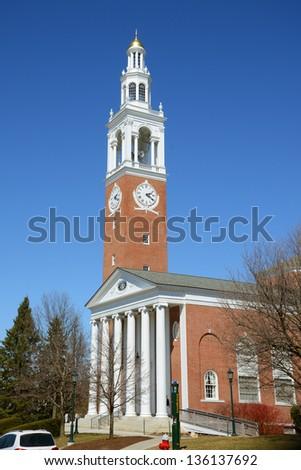 Ira Allen Chapel in University of Vermont (UVM), Burlington, Vermont, USA