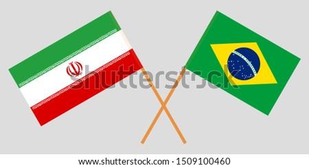 Iran and Brazil. The Iranian and Brazilian flags