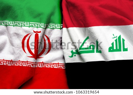 Iran and Iraq flag together
