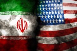 Iran and USA flag on smoke background, USA and Iran Crisis war