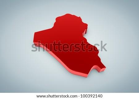 Iraq Map - stock photo