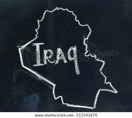 Iraq Map Outline Images and Stock Photos - Avopix com