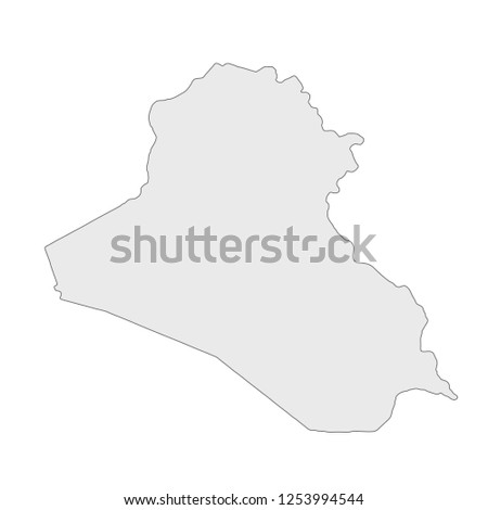 Black outline of Iraq map Stock Photo 271949177 - Avopix com