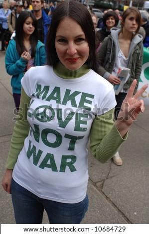 Iraq war protest - Editorial