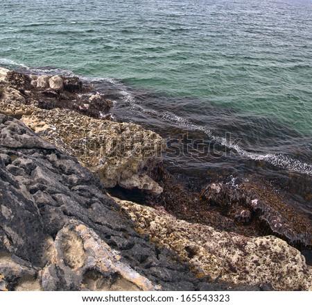 Ireland coast. Atlantic ocean coastline near Ballyvaughan, Co.Clare, Ireland