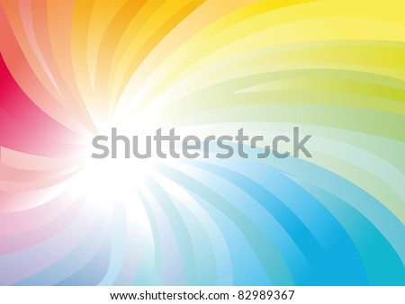 Iridescent spiral abstract colorful background