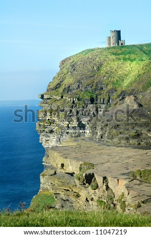 Irish Castle at Cliffs of Moher