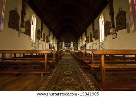 Irish Catholic Church Interior