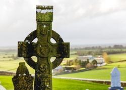 Irish celtic cross in Rock of cashel cemetery